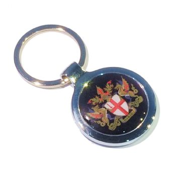 Keyring Blank Round 27mm and printed dome